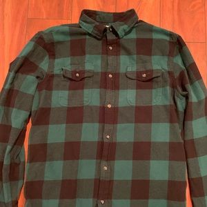 Green and Black Flanel